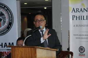 Co-author of the policy brief, Bobby Batungbacal, AmCham